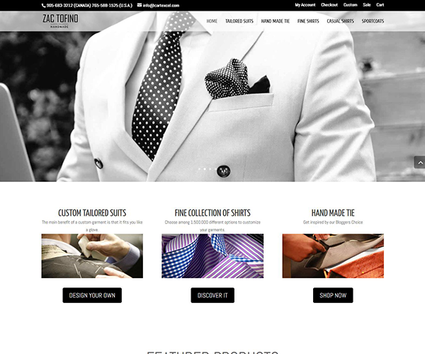Tailor Website